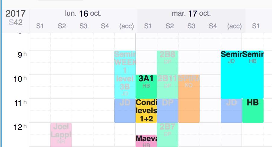 Planning ERP Ecole de Langue