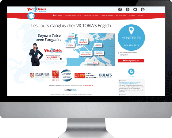 Sites web VICTORIA'S English